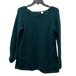 3/$20 Divided H&M fuzzy soft green sweater